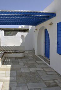 Paros Greece vacation home exterior